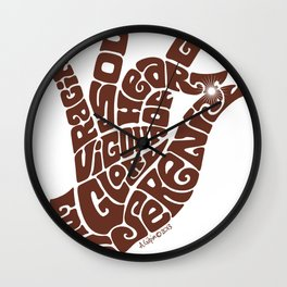 Heart Hand Milk Chocolate Wall Clock