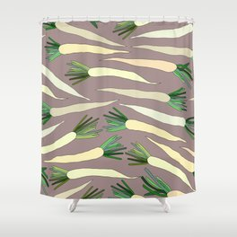 Daikon Radish Carrot Roots Shower Curtain