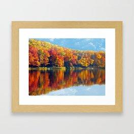 Autumn Colors at Lake Killarney Framed Art Print