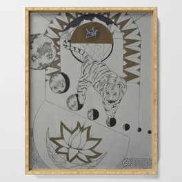 Cosmic Consciousness Serving Tray