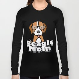 Beagle Mom Love Dog Mother's Day Gift Long Sleeve T-shirt