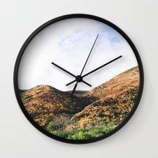 Malibu Mountains Wall Clock