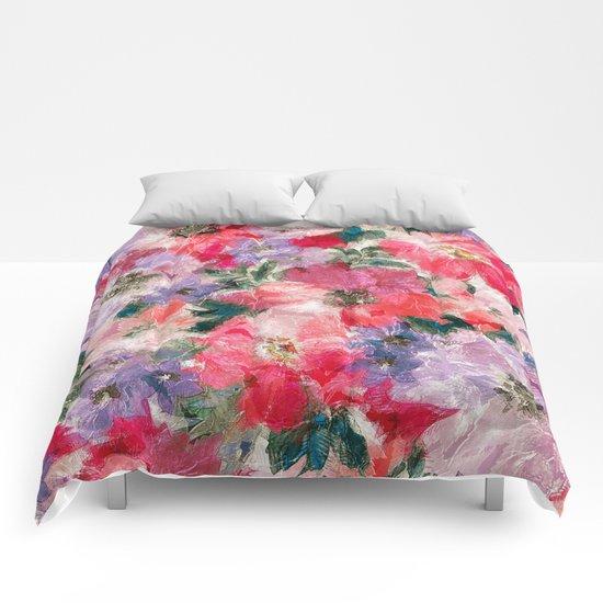 Splendid Flowers 2 Comforters
