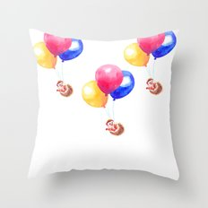 Hedgehog can Fly Throw Pillow