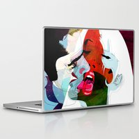 kiss Laptop & iPad Skins featuring Kiss by Alvaro Tapia Hidalgo