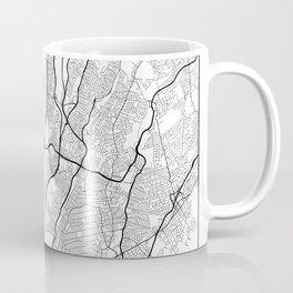 Minimal City Maps - Map Of Yonkers, New York, United States Coffee Mug