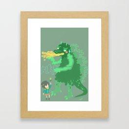 Godbilla Framed Art Print