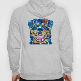Colorful Rottie Art - Rottweiler by Sharon Cummings Hoody