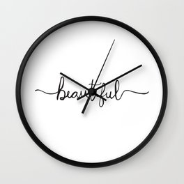 Modern and Elegant Hand Drawn Beautiful Wall Clock
