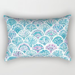 OMNISCIENT MERMAID All-Seeing Eye Scallop Rectangular Pillow