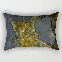"""The Fairy Queen"" Fairy Tale Art by Edmund Dulac Rectangular Pillow"