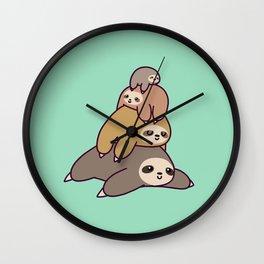 Sloth Stack Wall Clock