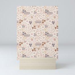 'organic shapes' abstract pattern Mini Art Print