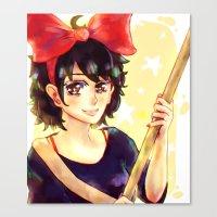 kiki Canvas Prints featuring Kiki by kimiyo
