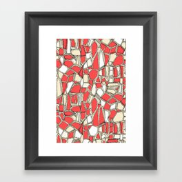 BROKEN POP coral Framed Art Print
