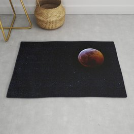 Super Wolf Blood Moon Lunar Eclipse Rug