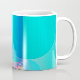 Colorful Circular Rainbows Coffee Mug