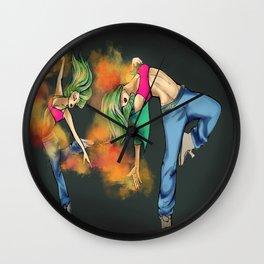 Necro fire dance Wall Clock