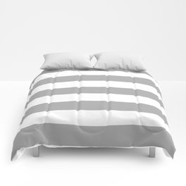 Silver chalice - solid color - white stripes pattern Comforters