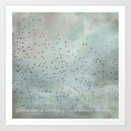 Stirring of Birds Art Print