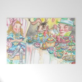 Alice's Mad Tea Party Welcome Mat