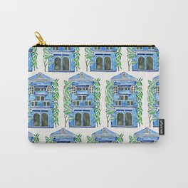 Tropical Blue House Carry-All Pouch