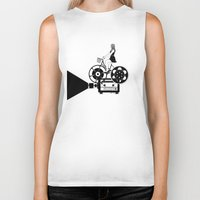 cinema Biker Tanks featuring Cinema Paradiso by Henn Kim