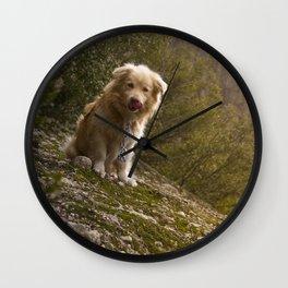 Greek Dog Wall Clock
