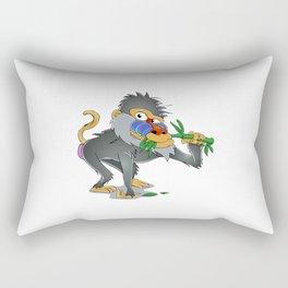 Baboon eating bamboo     Rectangular Pillow