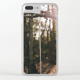 Peace in the Woods Clear iPhone Case