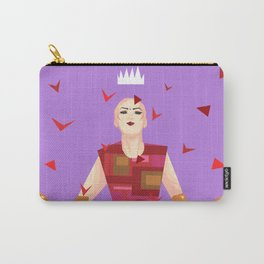 Sasha Velour among rose petals Carry-All Pouch