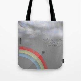 A quarter rainbow Tote Bag
