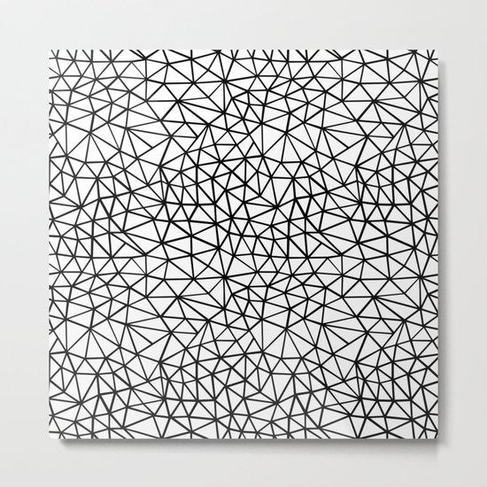 Shattered R Metal Print