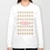 breakfast Long Sleeve T-shirts featuring Breakfast by Drew Devries