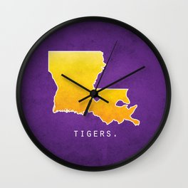 Louisiana State Tigers Wall Clock