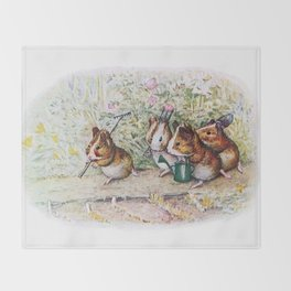 Little Hamster Garden Throw Blanket
