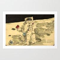 Austronaft dream Art Print