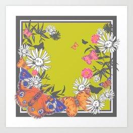 Flutterbies Art Print