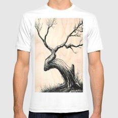 Tree in Bloom  White Mens Fitted Tee MEDIUM