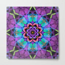 Floral Fractal Art G547 Metal Print