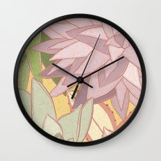 Succulents Wall Clock
