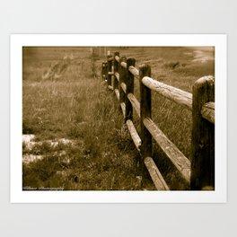 Wyoming Frontier Art Print