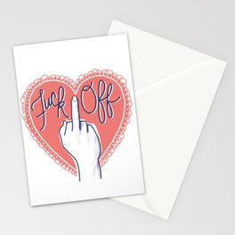Fuck Off (with Love) Stationery Cards