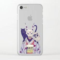 Neko Lady Clear iPhone Case