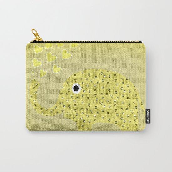 I Love Elephants Carry-All Pouch