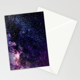 The Milky Way Midnight Blue & Purple Stationery Cards