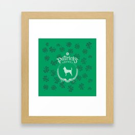 St. Patrick's Day Chihuahua Funny Gifts for Dog Lovers Framed Art Print
