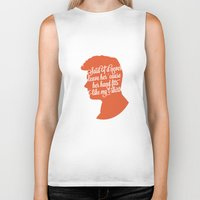 liam payne Biker Tanks featuring Liam Payne Silhouette   by Holly Ent