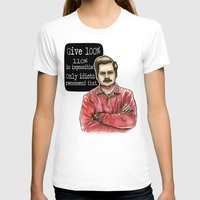 ron swanson T-shirts featuring Ron Swanson by Tiffany Willis