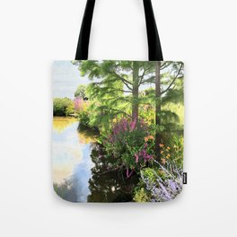 Hyde Hall in the blush of a summer Tote Bag